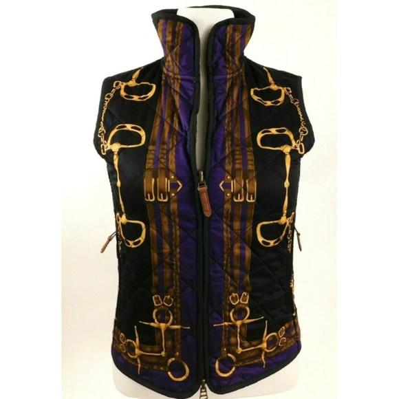 Lauren Black Medium Ralph Polo Purple Womens Vest KFTlc31J